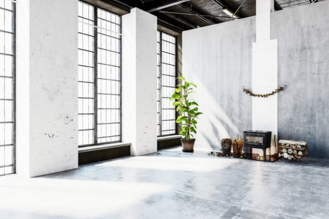 Concrete Wall and Floor of a Loft
